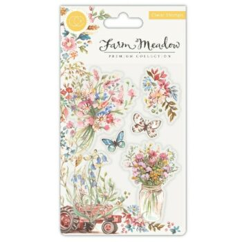 Farm Meadow Florals Clear Stamps