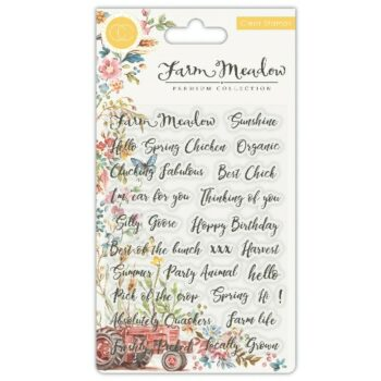 Farm Meadow Sentiments Clear Stamps