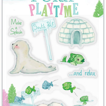 Polar Playtime Make a Splash Clear Stamps
