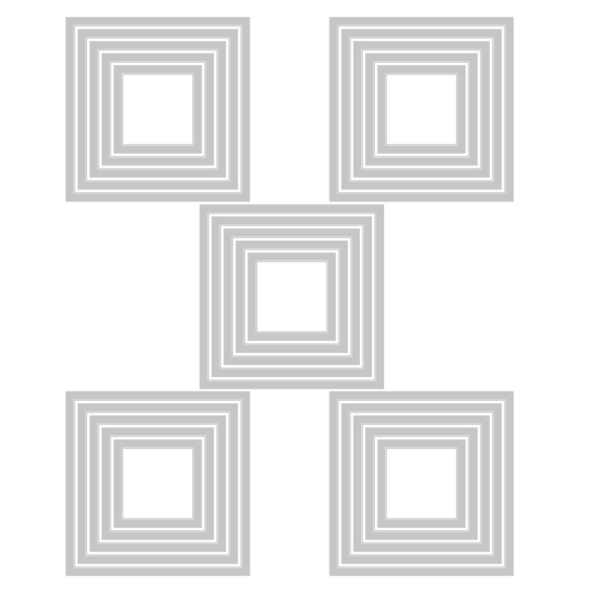 Sizzix Tim Holtz Squares Stacked Tiles Die Set