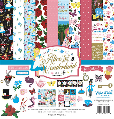 Alice in Wonderland 2 Paper Collection
