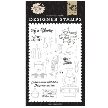 Echo Park Wizard at Heart Clear Stamps