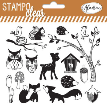 Stampo Clear Forest stamp set by aladine
