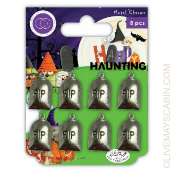 Happy Haunting Metal Charms - Craft Consortium