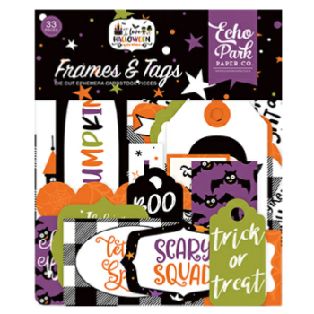 echo-park-i-love-halloween frames and tags