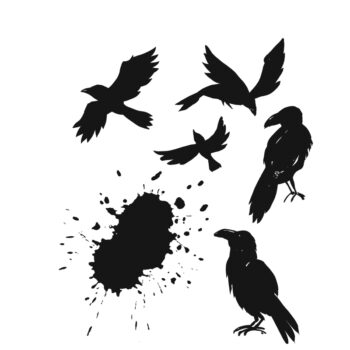 Stampers Anonymous Ravens Rubber Stamp Set - Tim Holtz