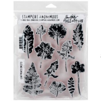Stampers Anonymous Leaf Prints Rubber Stamp Set