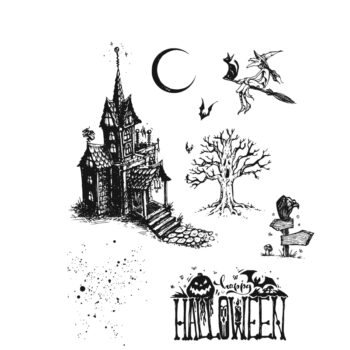 Haunted House Stamps - Tim Holtz Stampers Anonymous