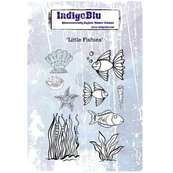 IndigoBlu Little Fishies Rubber Stamp