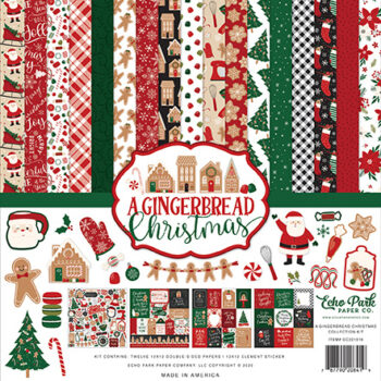 Echo Park A Gingerbread Christmas Collection Kit 12 x 12