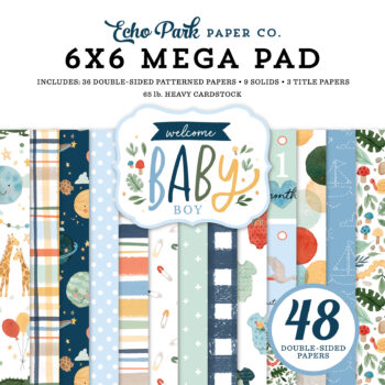 Welcome Baby Boy 6 x 6 Cardmakers Mega Pad