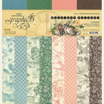 graphic-45-woodland-friends patterns and solids Pad