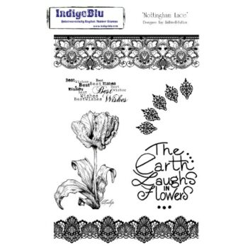 IndigoBlu Nottingham Lace Mounted Rubber Stamp Set