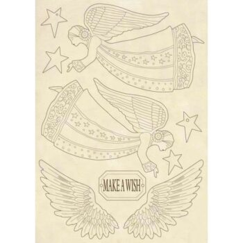 Stamperia A5 Wooden Shapes Angel & Wings