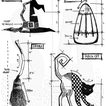 Halloween Blueprint 3 - Tim Holtz Stampers Anonymous