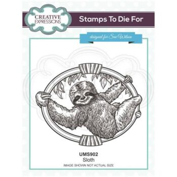 Sloth Rubber Stamp - Safari Collection