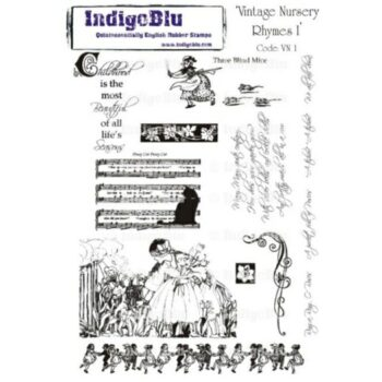 IndigoBlu Vintage Nursery Rhymes A5 Rubber Stamp Set