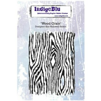 IndigoBlu Wood Grain Rubber Stamps
