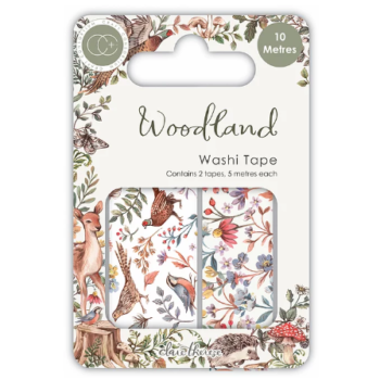 Woodland washi tape, paper pads and craft collection