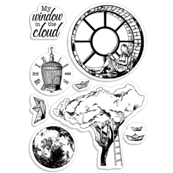 Window in the Cloud Clear Stamp Set - Moon and Me - Ciao Bella