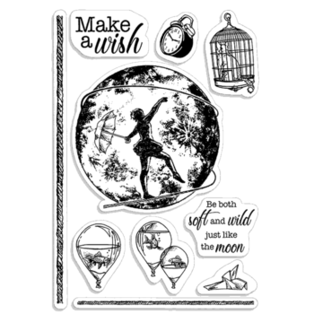 Make A Wish Clear Stamp Set - Moon and Me - Ciao Bella Papers