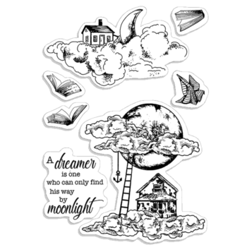 Moonlight Clear Stamp Set - Moon and Me - Ciao Bella Papers