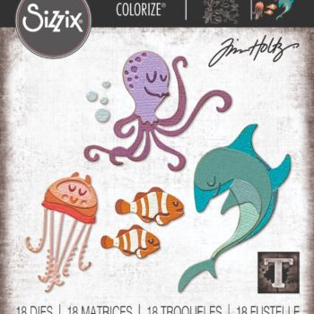 Sizzix Under the Sea #1 Colorize Die Set by Tim Holtz