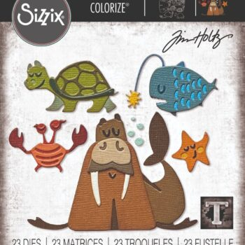 Sizzix Under the Sea #2 Colorize Die Set by Tim Holtz