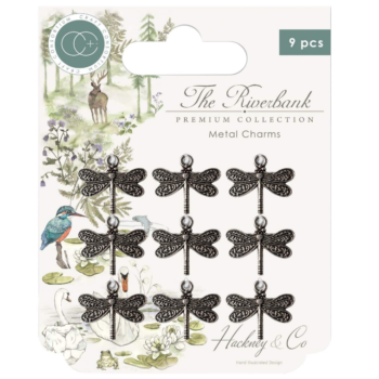 Craft Consortium The Riverbank Metal Charms Silver Dragonfly