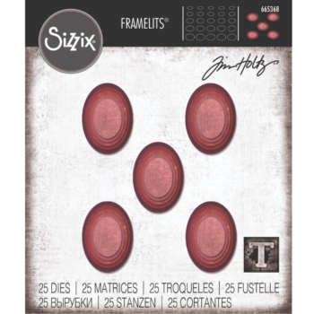 Sizzix Stacked Tiles Ovals Die Set by