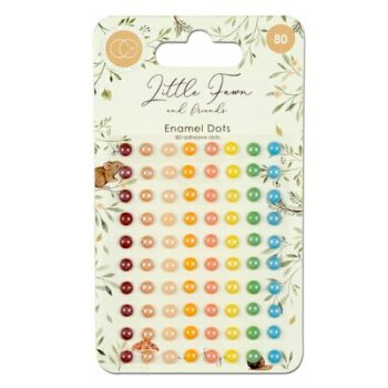 Little Fawn and Friends Adhesive Enamel Dots