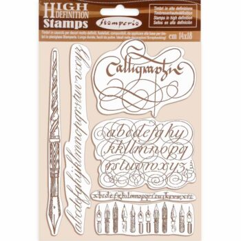 Stamperia Calligraphy Rubber Stamp Set